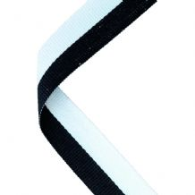 BLACK/WHITE RIBBON TWO COLOUR